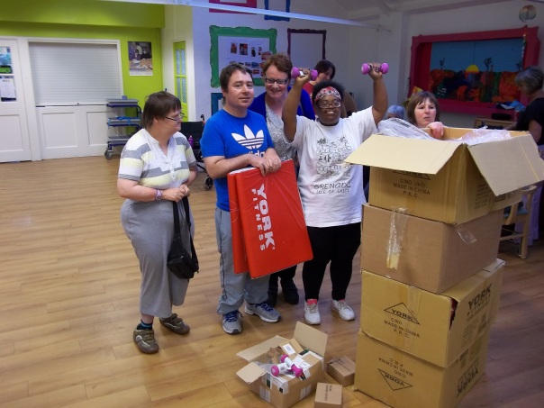 Keep fit new equpment from donations
