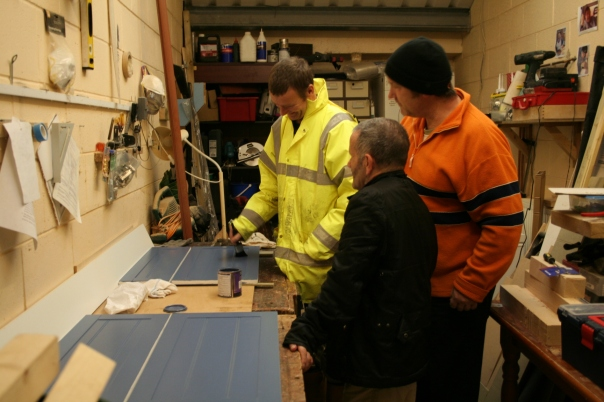 Neil, Will and Chris in the workshop