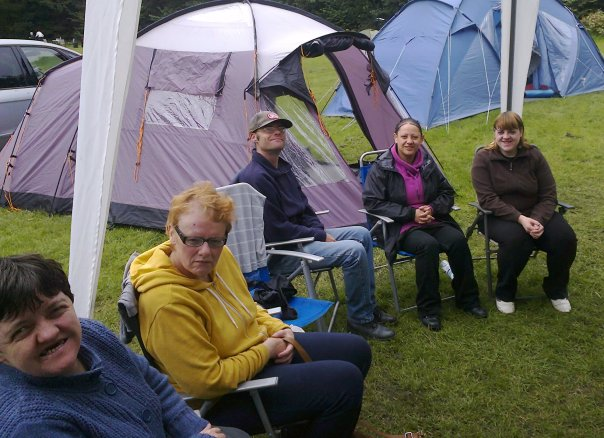 sat round at camp
