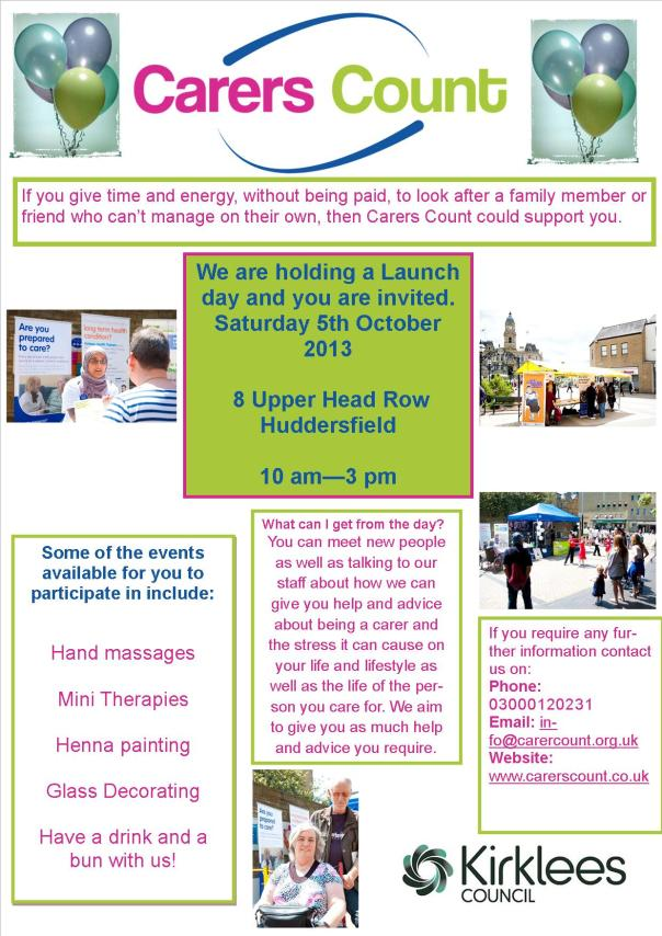 carers count launch huddersfield final