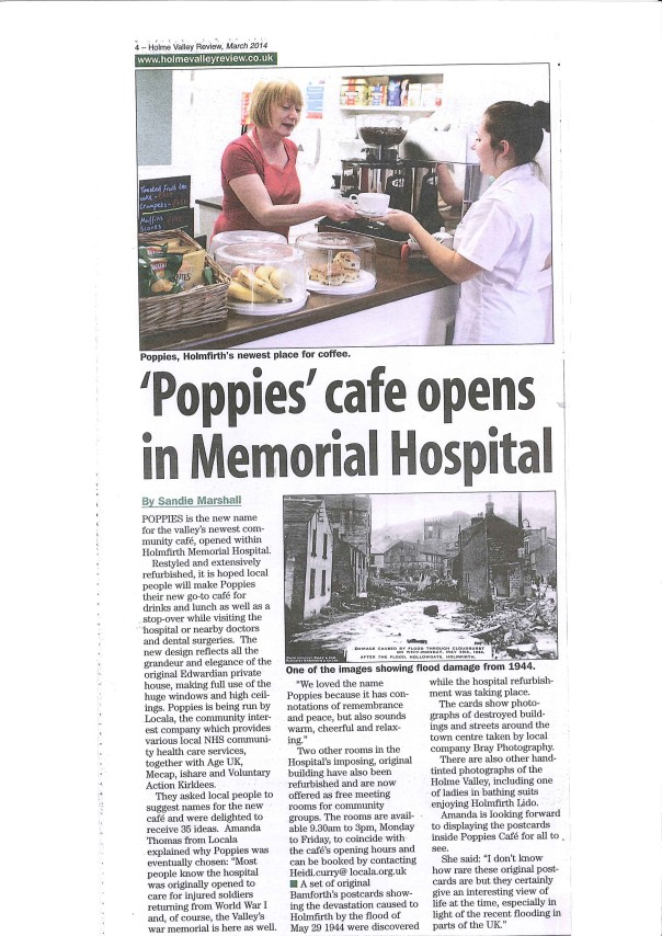 'Poppies' cafe opens