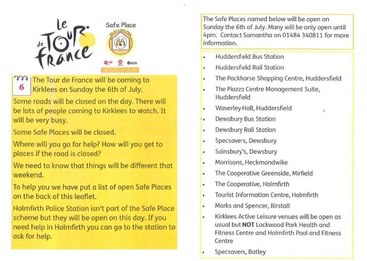 Safe Places - Le Tour de France - Web