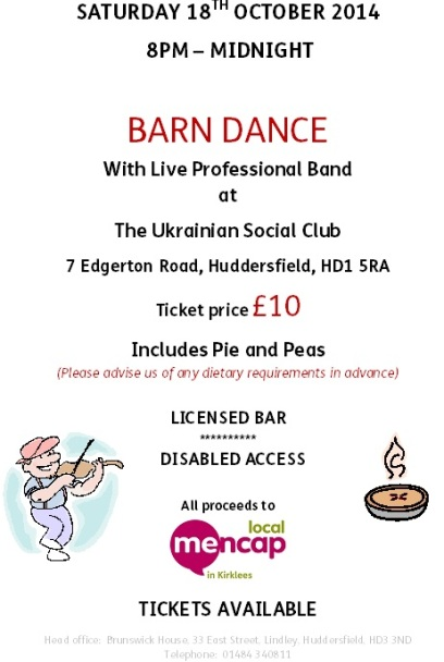 Barn Dance Poster - 18.10.14 for facebook