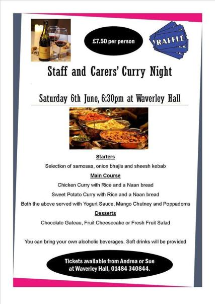 Staff and Carers' Curry Night