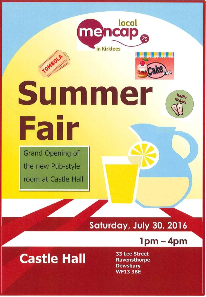 Summer Fair - Castle Hall 30.7.16